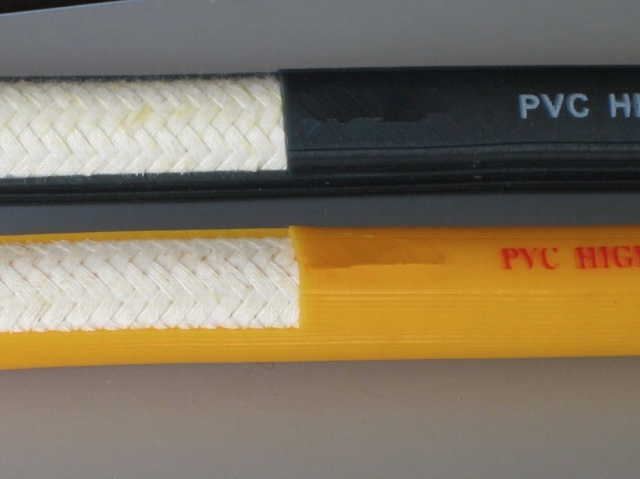Weaving high pressure pvc fiber hose
